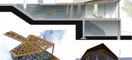 Plan architecture maison en bois