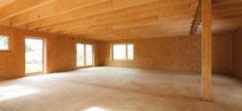 photo murs à ossature bois contreventés