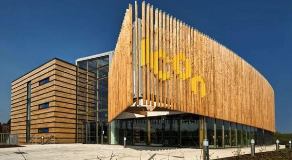 Construction en bois bardage à claire voie