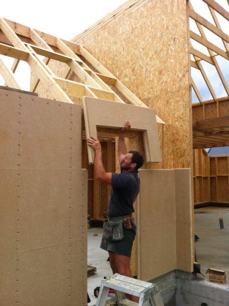 application sur ossature bois sous avis technique woodsurfer. Black Bedroom Furniture Sets. Home Design Ideas