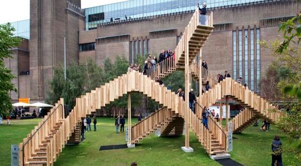 Montée des marches au festival du Design de Londres