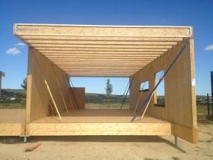 Showroom à ossature bois woodsurfer