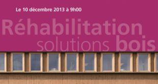 Colloque réhabilitation Solutions bois
