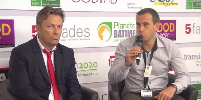 Jean-Claude Baudin - Charpente Cénomane et Didier Sauvage Stora Enzo sur le plateau TV Transition 2020
