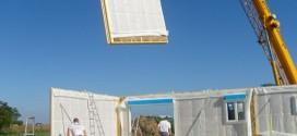Chantier panneaux à ossature bois