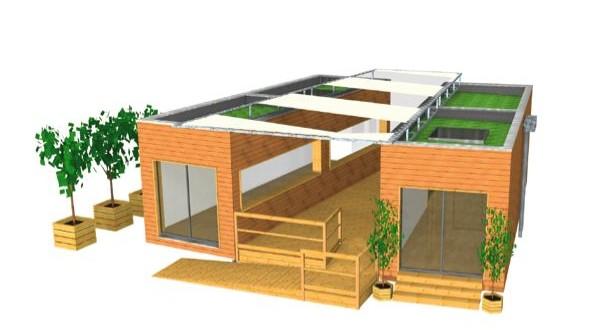 Maquette 3D Habitat Zéro Carbone