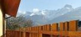 Paysage balcon montage enneigée