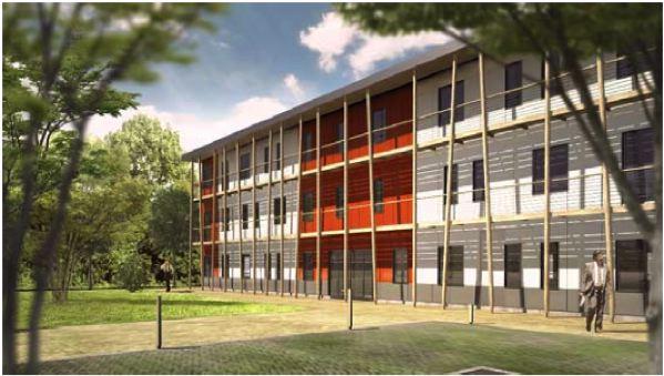 nexity propose des bureaux et commerces en bois woodsurfer. Black Bedroom Furniture Sets. Home Design Ideas