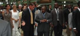 Inauguration usine Joubert Gabon
