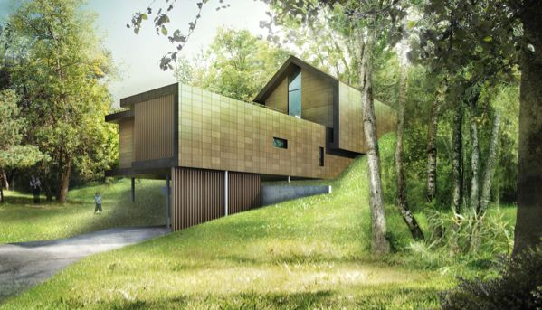 Lauriers de la construction bois 2009 woodsurfer for Architecture contemporaine maison individuelle