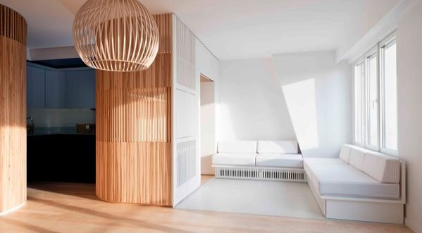un crin en bois pour un appartement parisien woodsurfer. Black Bedroom Furniture Sets. Home Design Ideas