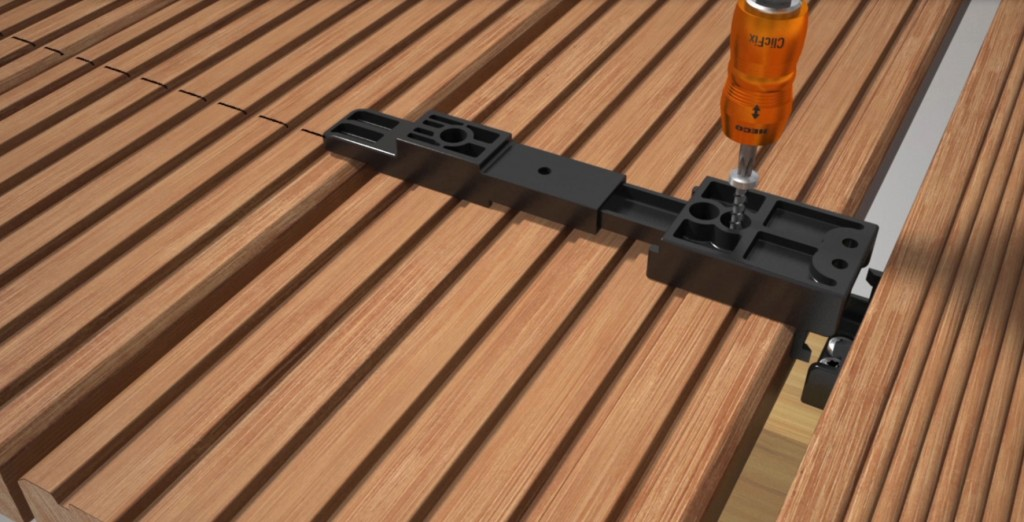 Fixation invisible de lames de terrasse woodsurfer - Fixation lambourde composite ...