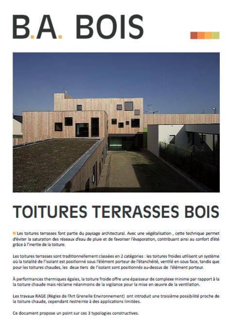 Toitures terrasses bois une brochure pour faire le point woodsurfer - Reglementation terrasse bois ...