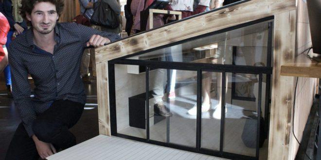 mini maousse 6 r compense un habitat temporaire bois modulaire woodsurfer. Black Bedroom Furniture Sets. Home Design Ideas