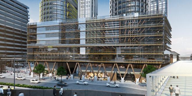 Australie premier immeuble de bureau en bois woodsurfer for Immeuble bureaux structure bois